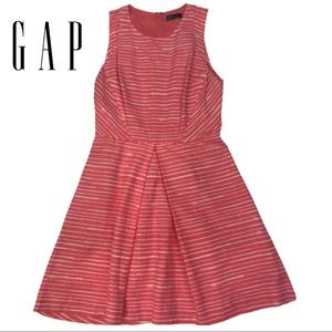 GAP Pink & White Striped Dress Fit & Flare size 2